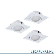 EGLO 95844 PINEDA Fehér beépíthető LED lámpa, 3 darabos csomag, billenthető, 8,4x8,4 cm, 3x6W, 3000K melegfehér, 3x500 lm világítás