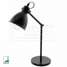 EGLO Lámpa Asztali E27 40W fekete Priddy világítás