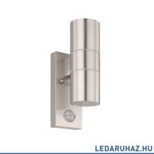 EGLO Riga 5 - 32898 - kültéri fali lámpa, nemesacél, GU10 foglalattal, IP44, 65x215 mm, mozgásérzékelővel kültéri világítás