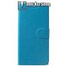 egyéb CRAZY notesz tok / flip tok - VILÁGOSKÉK - asztali tartó funkciós, oldalra nyíló, rejtett mágneses záródás, bankkártya tartó zsebekkel, szilikon belső, Fedlapba épített acéllemezzel, ERŐS VÉDELEM! - SONY Xperia XA2 Plus