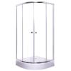 egyéb Íves zuhanykabin két tolóajtós, króm kerettel, transparent üveggel 80cm