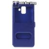 egyéb Műanyag védő tok / hátlap - KÉK - oldalra nyíló ablakos flip cover, asztali tartó funkció, mágneses záródás, hívásfelvétel - SAMSUNG SM-A600F Galaxy A6 (2018)