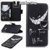 egyéb Notesz / mappa tok - Do Not Touch My Phone MINTÁS - oldalra nyíló, rejtett mágneses záródás, belső zseb, asztali tartó funkció, szilikon belső - SAMSUNG SM-J415F Galaxy J4+