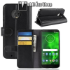 egyéb Notesz tok / flip tok - FEKETE - valódi bőr, asztali tartó funkciós, oldalra nyíló, rejtett mágneses záródás, bankkártyatartó zseb, szilikon belső - MOTOROLA Moto G6 (2018)