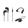 egyéb Univerzális 3 részes 3,5mm fémházas sztereo headset mikrofonnal