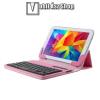 """egyéb UNIVERZÁLIS tablet PC flip / mappa bőrtok - 7""""-os készülékekhez, bluetooth billentyűzet, ANGOL KIOSZTÁS! - RÓZSASZÍN"""