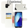 egyéb WALLET notesz tok / flip tok - FEHÉR - asztali tartó funkciós, oldalra nyíló, rejtett mágneses záródás, bankkártyatartó zseb, szilikon belsõ - SAMSUNG SM-A730F Galaxy A8 Plus (2018)