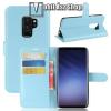 egyéb WALLET notesz tok / flip tok - VILÁGOSKÉK - asztali tartó funkciós, oldalra nyíló, rejtett mágneses záródás, bankkártyatartó zseb, szilikon belsõ - SAMSUNG Galaxy S9 Plus