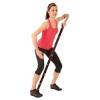 Elastiband fitnesz erősítő gumipánt erős, 8 db 10 cm hosszú szakaszból,15 kg erősségű fekete elaszti