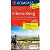 Elberadweg, Von Cuxhaven nach Magdeburg kerékpártúra térkép - Kompass FTK 7002
