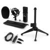 Electronic-Star auna CM001B mikrofon készlet V1, kondenzátoros mikrofon, USB-adapter, mikrofon állvány, fekete