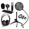 Electronic-Star auna CM003 mikrofon készlet V2, kondenzátoros mikrofon, USB-konverter, fülhallgató, mikrofon állvány