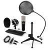 Electronic-Star auna CM003 mikrofon készlet V2, kondenzátoros mikrofon, USB-konverter, mikrofon állvány, pop szűrő