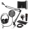 Electronic-Star auna MIC-920B USB mikrofon szett V5 fejhallgató, mikrofon, pop filter, mikrofonernyő, mikrofon kar