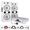 """Electronic-Star DJ PA Anlage """"DJ-22"""" Verstärker Boxen Mic Kabel 1000W"""