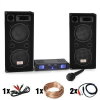 """Electronic-Star DJ PA szett """"DJ-26"""" erosíto, PA hangfalak 2000W"""