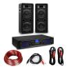 """Electronic-Star HiFi erősítő & hangfal szett, 2 x 350 W erősítő, 2 x hangfal, 8"""", 400 W RMS"""