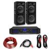 """Electronic-Star HiFi erősítő & hangfal szett, 2 x 500 W erősítő, 2 x hangfal, 12"""", 500 W RMS"""