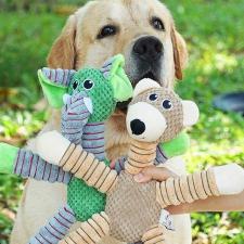 Elefántos plüss játék kisállatoknak játék kutyáknak