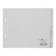 Elválasztólap Durable PP 180x230 mm 20 részes A-Z-ig szürke regiszter és tartozékai