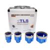 EMIKOO TLS lyukfúró készlet 20-25-27-35 mm kék - alumínium koffer