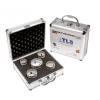 EMIKOO TLS lyukfúró készlet 38-43-51-55-65 mm - alumínium koffer