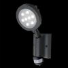 Emithor 70122 - NEVADA szenzoros LED-es kültéri fali lámpa 8xLED/1W szürke IP54