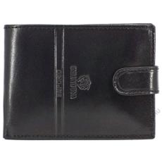 Emporio Valentini Bőr férfi kívül kapcsos fekete  pénztárca Emporio Valentini
