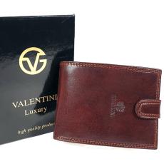 Emporio Valentini Valentini oldalfalas aprótartós barna kapcsos férfi bőr pénztárca 563-320