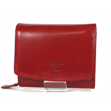 Emporio Valentini Valentini piros, íves fedelű,kis női bőr pénztárca 563586