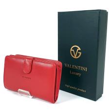 Emporio Valentini Valentini piros, közepes két oldalas női bőr pénztárca 306ST01