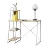 [en.casa]® [en.acsa]® Íróasztal polcokkal  Aalborg,117 x 102 x 50 cm, Fehér/Tölgyfa-hatás