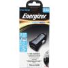 ENERGIZER micro usb autós töltő,2xUSB,2.4A,Fekete