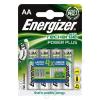 """ENERGIZER Tölthető elem, AA ceruza, 4x2000 mAh, ENERGIZER """"Power Plus"""" (EA638622)"""