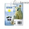 Epson Epson T2614 [Y] tintapatron (eredeti, új)