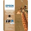 Epson T07114H10 Tintapatron Stylus D120 nyomtatóhoz, EPSON fekete, 2*11ml