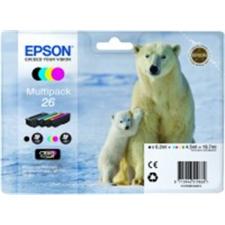 Epson T26164010 Tintapatron multipack XP 600, 700, 800 nyomtatókhoz,  b+c+m+y, 19,7ml nyomtatópatron & toner