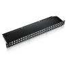 Equip 19\'\' patch panel 48 portos 1U cat.6 árnyékolt  fekete