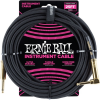 Ernie Ball 25' Braided Straight / Angle Instrument Cable Black
