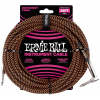 Ernie Ball 25' Braided Straight / Angle Instrument Cable Neon Orange/Black