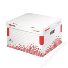 """ESSELTE Archiváló konténer, újrahasznosított karton, fedéllel, ESSELTE """"Speedbox"""", fehér irattartó"""