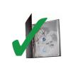 ESSELTE Genotherm lefűzhető -259760-MAXI A4/120mic NARANCSOS ESSELTE25db/cs