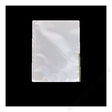 ESSELTE Genotherm, lefűzhető, felül/oldalt félig nyitott, A4, 105 mikron, víztiszta, ESSELTE,zöld lefűző