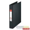 "ESSELTE Gyûrûs könyv, 2 gyûrû, 42 mm, A5, PP/PP, ESSELTE ""Standard"", Vivida fekete"