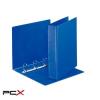 ESSELTE Gyûrûs könyv, panorámás, 4 gyûrû, D alakú, 65 mm, A4, PP/PP, ESSELTE, kék