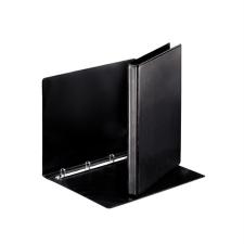 ESSELTE Gyűrűs könyv, panorámás, 4 gyűrű, 25 mm, A4, PP/PP, , fekete mappa
