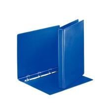 ESSELTE Gyűrűs könyv, panorámás, 4 gyűrű, D alakú, 35 mm, A4, PP/PP, , kék mappa