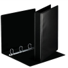 ESSELTE Gyűrűs könyv, panorámás, 4 gyűrű, D alakú, 50 mm, A4, PP/PP, , fekete