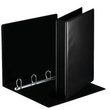 ESSELTE Gyűrűs könyv, panorámás, 4 gyűrű, D alakú, 50 mm, A4, PP/PP, , fekete mappa