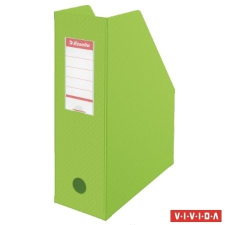 ESSELTE Iratpapucs, PVC/karton, 100 mm, összehajtható, ESSELTE, Vivida zöld irattartó